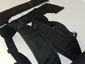 Leg strap cover replacement